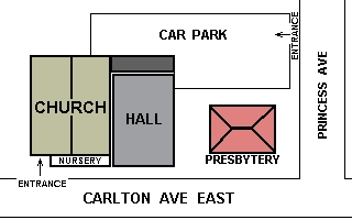Site map of St Erconwald's